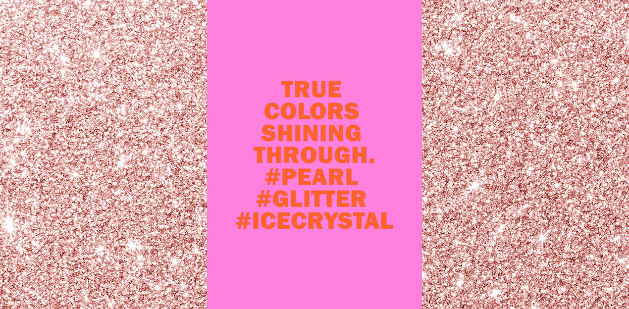 True colors shining through. #PEARL #GLITTER #ICECRYSTAL